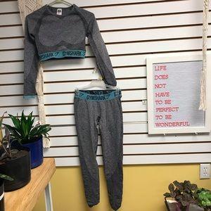 Gymshark Flex Charcoal and Teal Set
